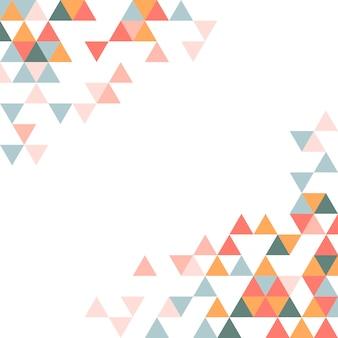 Patrón de triángulo geométrico colorido