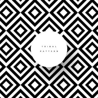 Patrón tribal abstracto