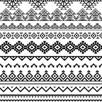 Patrón tribal en blanco y negro