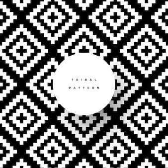 Patrón tribal de moda con formas geométricas.