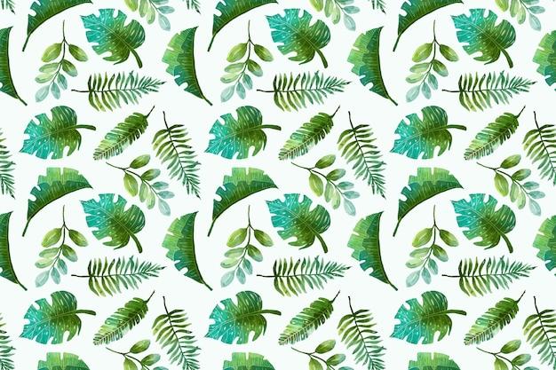 Patrón tropical de verano pintado a mano