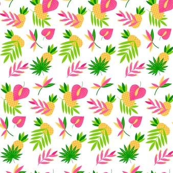 Patrón tropical de verano plano