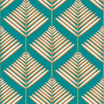 Patrón tropical vintage sobre fondo verde