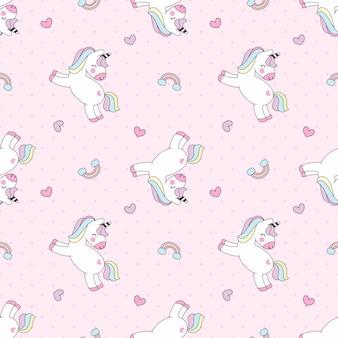 Patrón de unicornio colorido