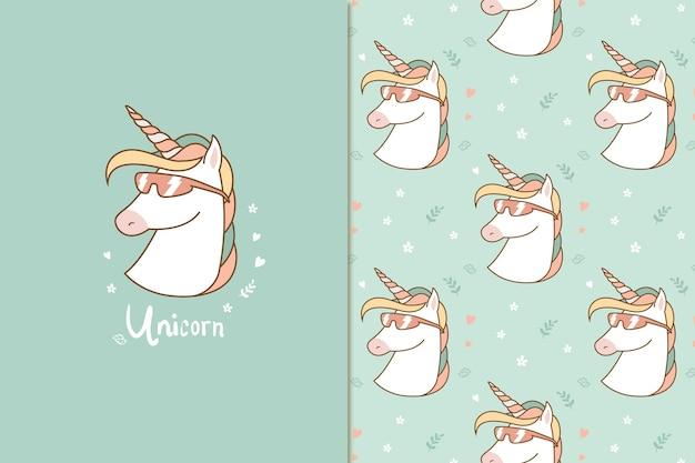 Patrón de unicornio de verano