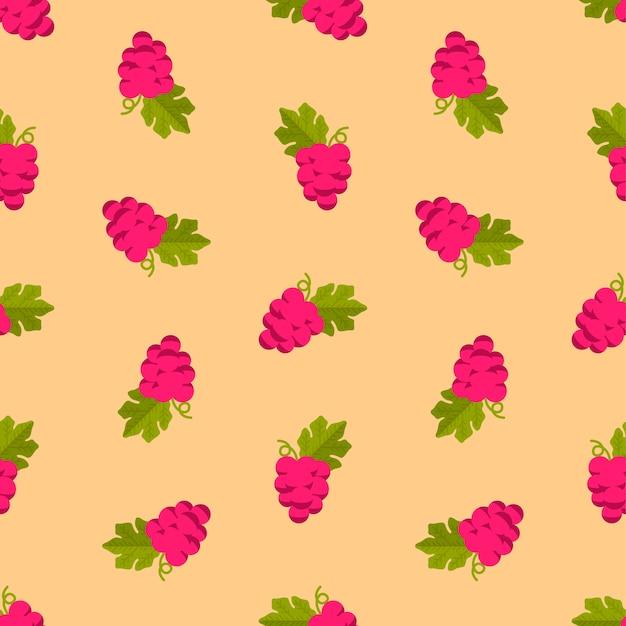 Patrón de uva en naranja
