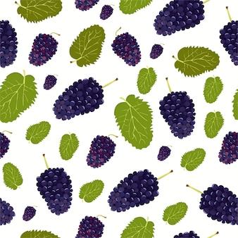 Patrón de uvas rojas
