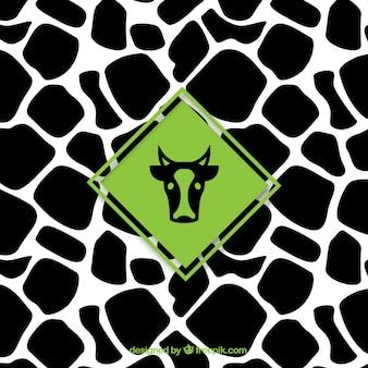 Patrón de la vaca con la etiqueta