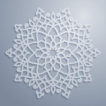 Patrón de vector árabe ornamento del círculo