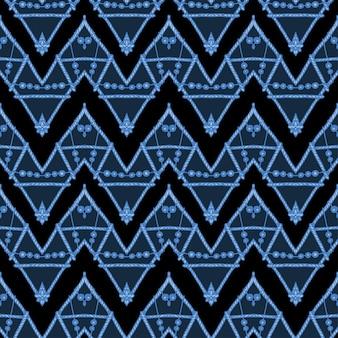 Un patrón de vector de chevron en zigzag étnico inconsútil