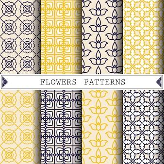 Patrón de vector de flor para decorar fondo de página web