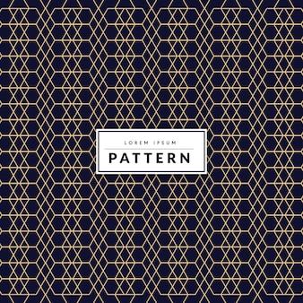Patrón de vector de línea geométrica abstracta