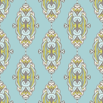 Patrón de vector ornamental de lujo vintage transparente abstracto para tela