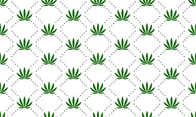 Patrón de vector transparente de hojas de marihuana