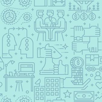 Patrón de vector transparente de negocios