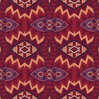 Patrón de vector tribal inconsútil abstracto para tela y alfombra