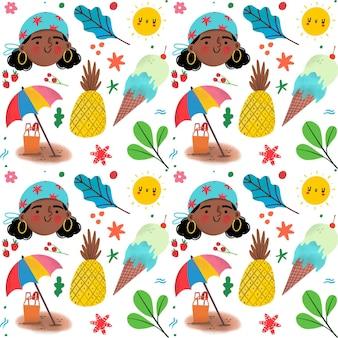 Patrón de verano colorido