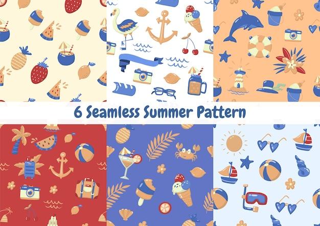 Patrón de verano sin costuras