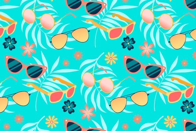Patrón de verano - fondo para zoom