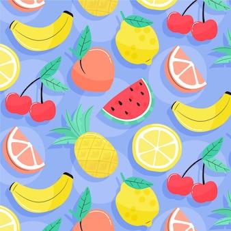 Patrón de verano con frutas