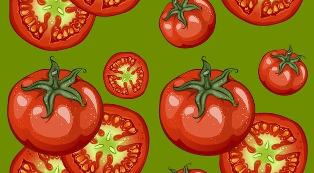 Patrón de verduras de dibujo colorido