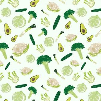 Patrón de verduras