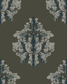 Patrón vintage fondo real clásico. papel tapiz de damasco