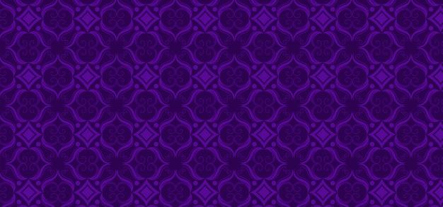 Patrón vintage ornamental púrpura