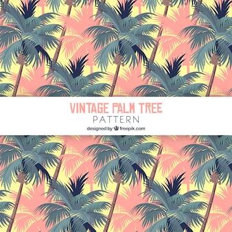 Patrón vintage de palmeras