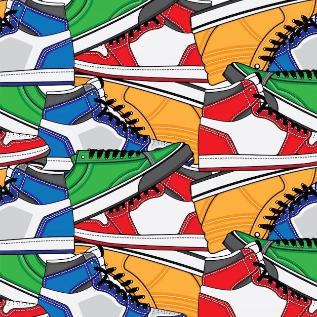 Patrón con zapatillas de deporte.