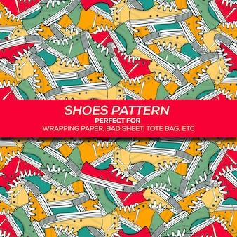 Patrón de zapatos de papel de regalo
