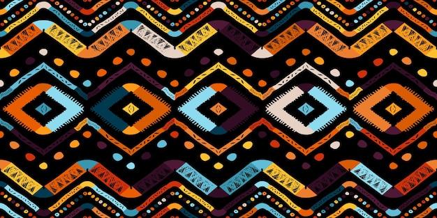 Patrón de zigzag abstracto para diseño de portada