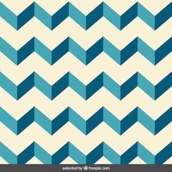 Patrón zigzag azul
