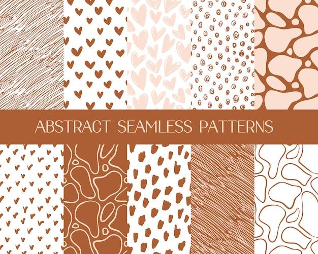 Patrones abstractos simples, fondos sin costura