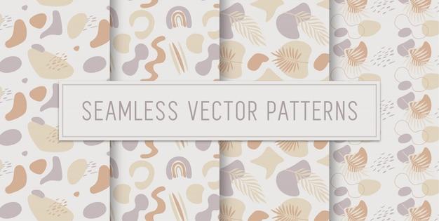 Patrones abstractos de tono tierra sin costura