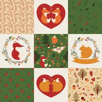 Patrones de bebé e ilustraciones.