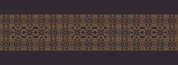 Patrones de borde de marco tradicional lujoso chino, japonés, asiático