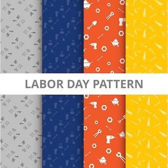 Patrones coloridos del día del trabajo