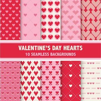 Patrones del corazón del día de san valentín