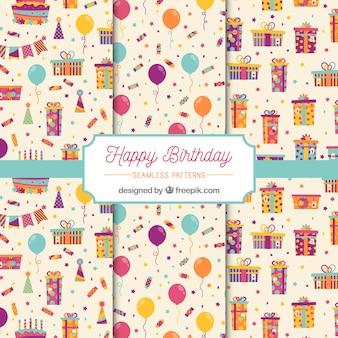 Patrones de feliz cumpleaños