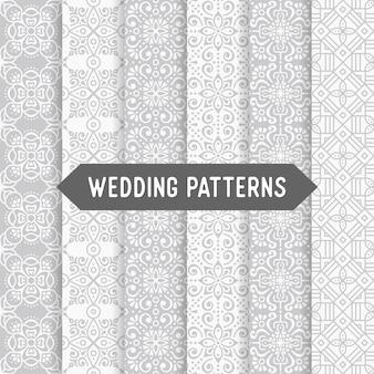 Patrones étnicos florales de boda