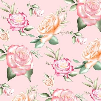 Patrones sin fisuras con acuarelas flores
