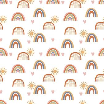 Patrones sin fisuras de arco iris abstractos