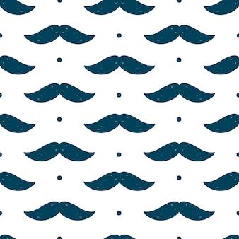 Patrones sin fisuras con bigote para el día del padre