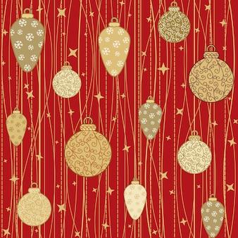 Patrones sin fisuras con bolas decorativas
