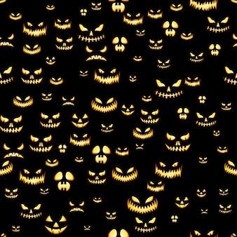 Patrones sin fisuras con calabazas de halloween