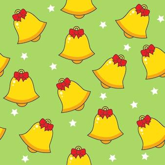 Patrones sin fisuras con campanas de navidad