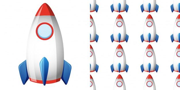 Patrones sin fisuras con cohete