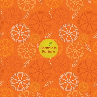 Patrones sin fisuras de contornos de rodaja de naranja