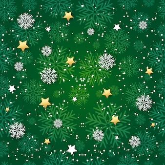 Patrones sin fisuras con copos de nieve. fondo de pantalla de vacaciones para tarjetas de felicitación, pancartas, papel de regalo. ilustración